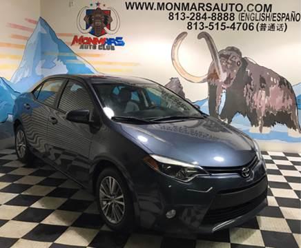 2014 Toyota Corolla for sale at Monmars Auto Club in Tampa FL