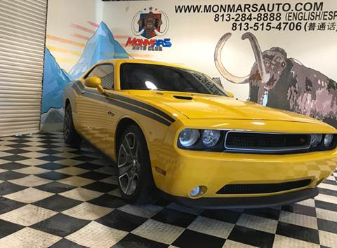 2012 Dodge Challenger for sale at Monmars Auto Club in Tampa FL