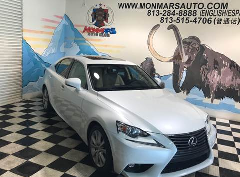 2015 Lexus IS 250 for sale at Monmars Auto Club in Tampa FL