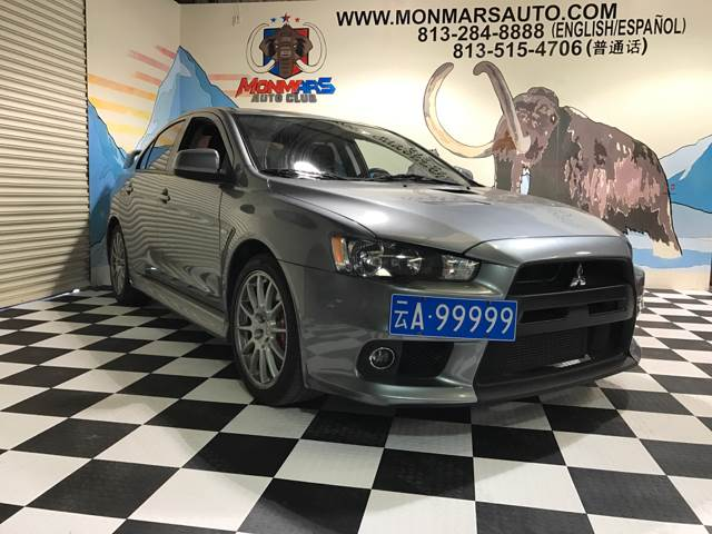 2013 Mitsubishi Lancer Evolution for sale at Monmars Auto Club in Tampa FL
