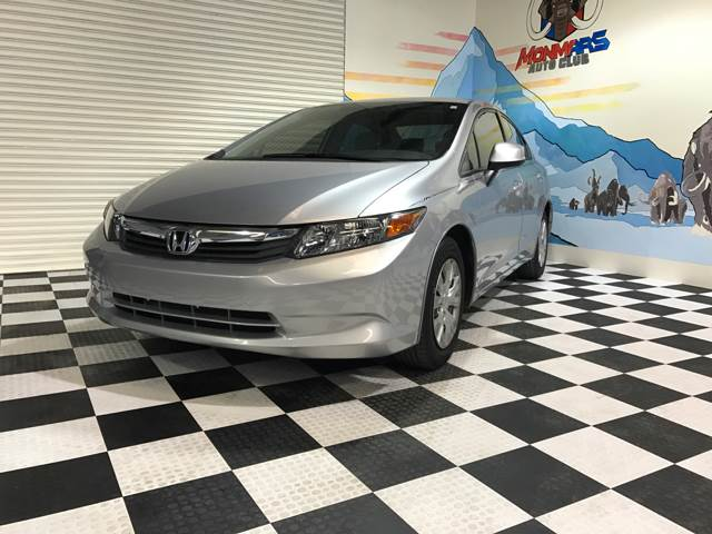 2012 Honda Civic for sale at Monmars Auto Club in Tampa FL