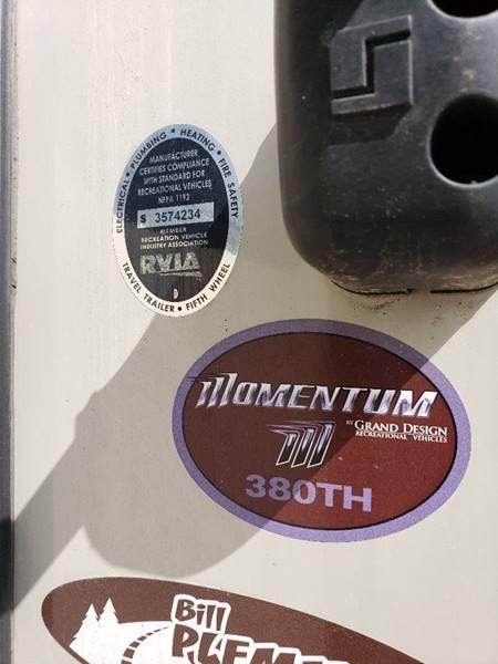 2015 Grand design Momentum  - White Settlement TX