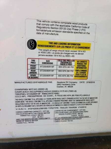 2018 Keystone Voltage 4205  - White Settlement TX