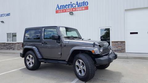 2016 Jeep Wrangler for sale at AmericAuto in Des Moines IA