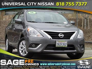 2016 Nissan Versa for sale in Los Angeles, CA