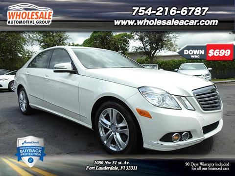 2010 Mercedes-Benz E-Class for sale in Fort Lauderdale, FL
