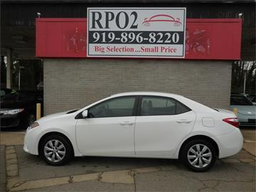 2014 Toyota Corolla for sale in Raleigh, NC