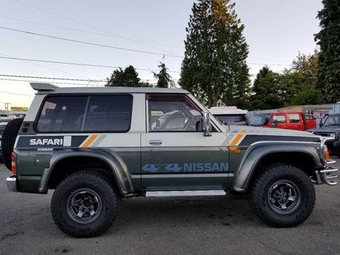 1989 Nissan Safari 4X4 Diesel 4.2 for sale at JDM Car & Motorcycle LLC in Seattle WA