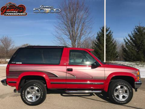 1993 Chevrolet Blazer for sale at Jamie's Customs and Powersports in Big Bend WI
