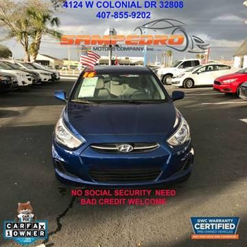 2016 Hyundai Accent for sale at SAMPEDRO MOTORS COMPANY INC in Orlando FL