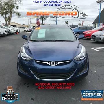 2016 Hyundai Elantra for sale at SAMPEDRO MOTORS COMPANY INC in Orlando FL