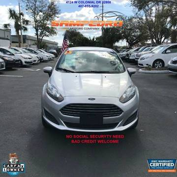2015 Ford Fiesta for sale at SAMPEDRO MOTORS COMPANY INC in Orlando FL