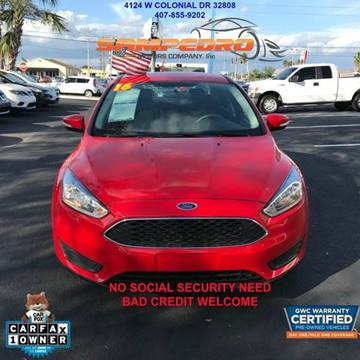 2016 Ford Focus for sale at SAMPEDRO MOTORS COMPANY INC in Orlando FL