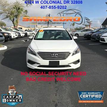 2017 Hyundai Sonata for sale at SAMPEDRO MOTORS COMPANY INC in Orlando FL