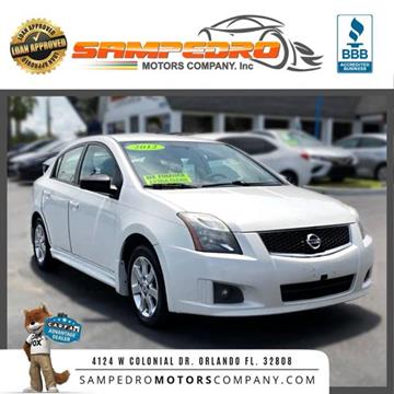 2012 Nissan Sentra for sale at SAMPEDRO MOTORS COMPANY INC in Orlando FL