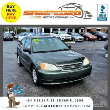 2003 Honda Civic for sale at SAMPEDRO MOTORS COMPANY INC in Orlando FL