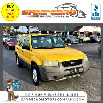 2001 Ford Escape for sale at SAMPEDRO MOTORS COMPANY INC in Orlando FL