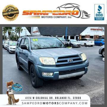 2004 Toyota 4Runner for sale at SAMPEDRO MOTORS COMPANY INC in Orlando FL