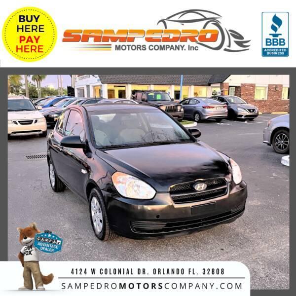 2008 Hyundai Accent for sale at SAMPEDRO MOTORS COMPANY INC in Orlando FL