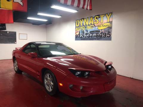 2001 Pontiac Firebird for sale at Dynasty Auto in Dallas TX