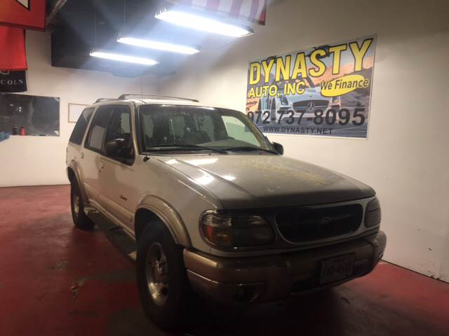 1999 Ford Explorer for sale at Dynasty Auto in Dallas TX
