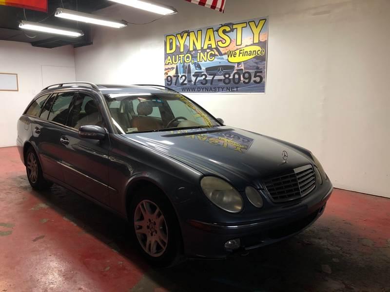 2005 Mercedes Benz E Class For Sale At Dynasty Auto In Dallas TX