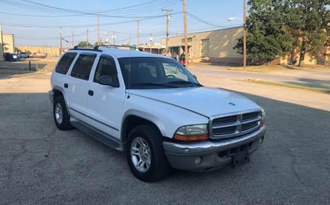 2002 Dodge Durango for sale at Dynasty Auto in Dallas TX