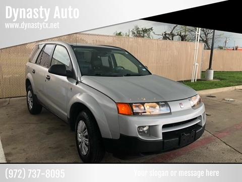 2003 Saturn Vue for sale at Dynasty Auto in Dallas TX