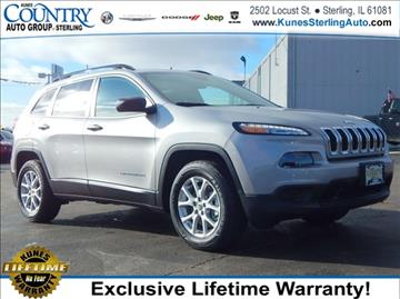 2017 Jeep Cherokee for sale in Sterling, IL