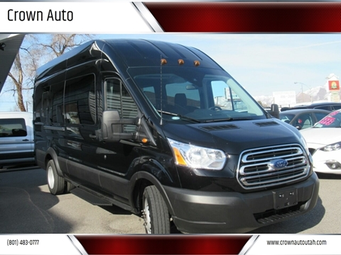 2019 Ford Transit Passenger 350 XLT for sale at Crown Auto in South Salt Lake City UT