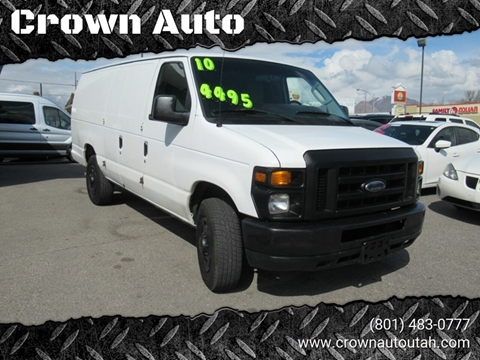 2010 Ford E-Series Cargo E-250 for sale at Crown Auto in South Salt Lake City UT