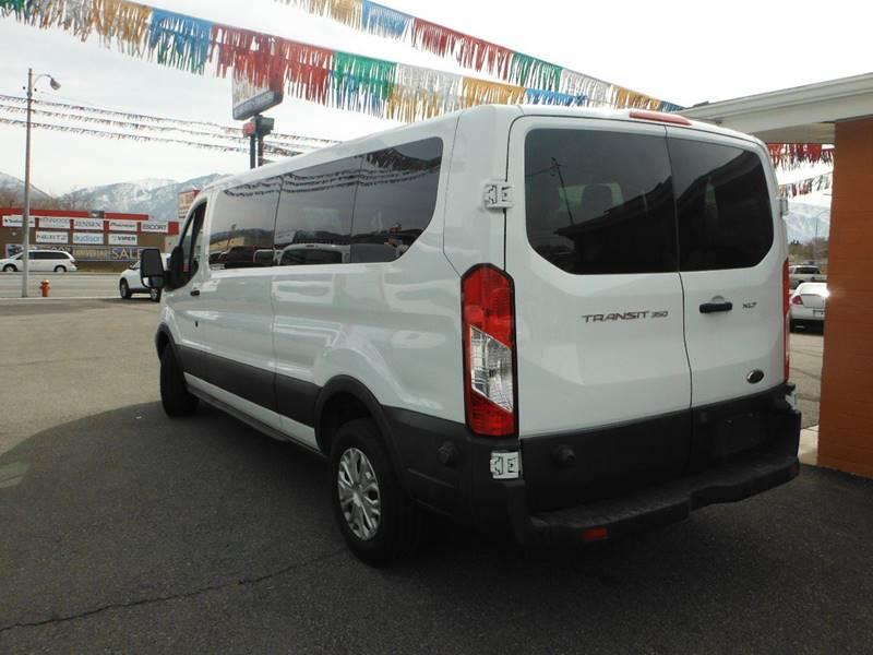 2015 Ford Transit Wagon 350 XLT 3dr LWB Low Roof Passenger Van w/60/40 Passenger Side Doors - South Salt Lake UT