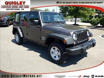 2014 Jeep Wrangler Unlimited for sale in Boyertown, PA