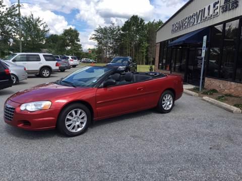 2006 Chrysler Sebring for sale at KERNERSVILLE AUTO SALES in Kernersville NC
