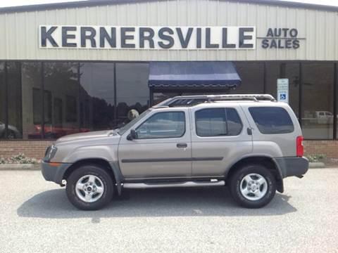 2003 Nissan Xterra for sale at KERNERSVILLE AUTO SALES in Kernersville NC