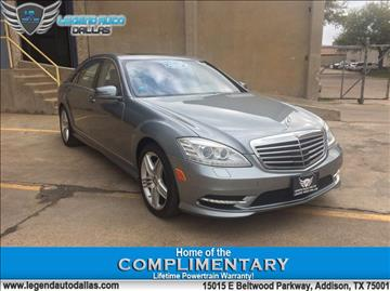 2013 Mercedes-Benz S-Class for sale in Addison, TX