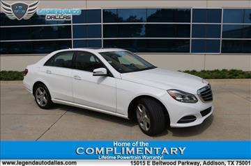 2014 Mercedes-Benz E-Class for sale in Addison, TX