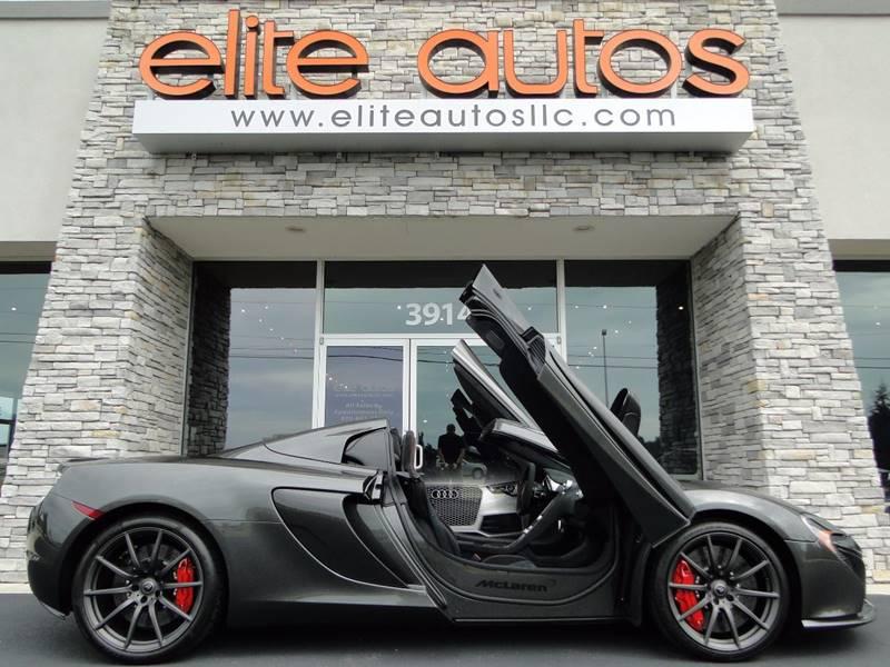 2015 McLaren 650S Spider for sale at Elite Autos LLC in Jonesboro AR