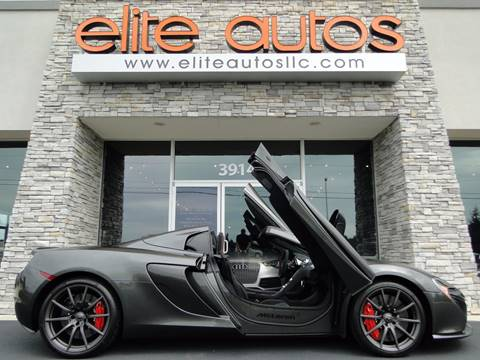 2015 McLaren 650S Spider for sale at Elite Autos LLC in Jonesboro AR