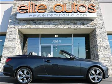 2011 Lexus IS 250C for sale at Elite Autos LLC in Jonesboro AR