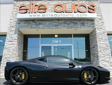 2011 Ferrari 458 Italia for sale at Elite Autos LLC in Jonesboro AR