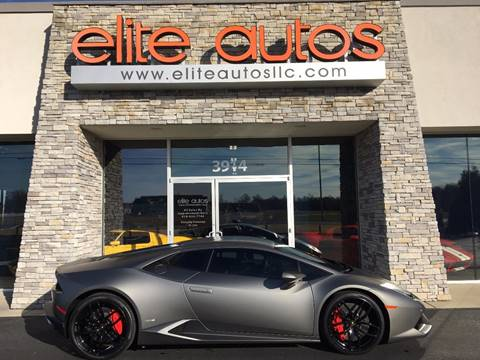 2015 Lamborghini Huracan for sale at Elite Autos LLC in Jonesboro AR
