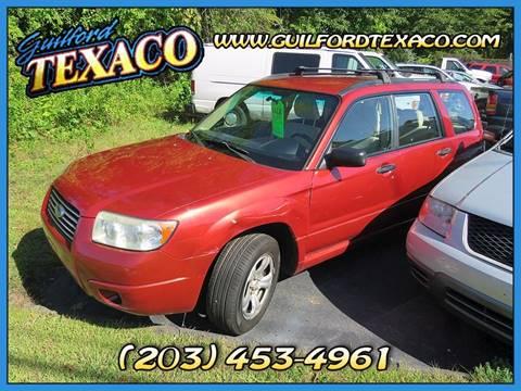 2007 Subaru Forester for sale at GUILFORD TEXACO in Guilford CT