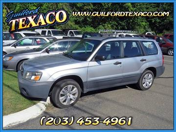 2005 Subaru Forester for sale at GUILFORD TEXACO in Guilford CT
