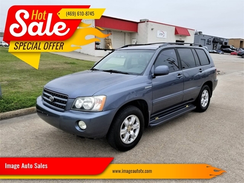 2002 Toyota Highlander Limited for sale at Image Auto Sales in Dallas TX