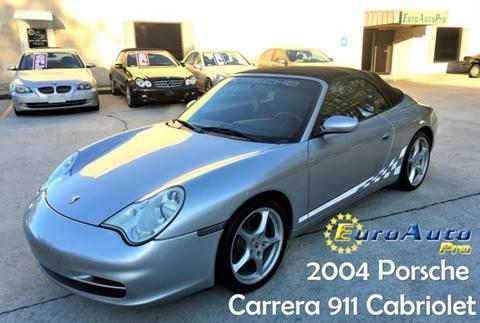 2004 Porsche 911 for sale at EURO AUTO PRO in Liburn GA