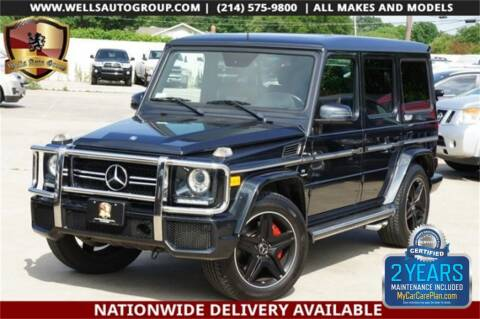 2014 Mercedes-Benz G-Class G 63 AMG for sale at WELLS AUTO GROUP in Mckinney TX