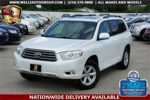 2010 Toyota Highlander SE for sale at WELLS AUTO GROUP in Mckinney TX