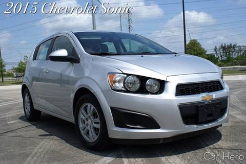2015 Chevrolet Sonic for sale at CAR HERO LLC in Houston TX