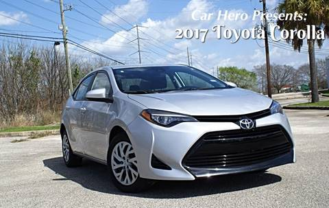 2017 Toyota Corolla for sale at CAR HERO LLC in Houston TX